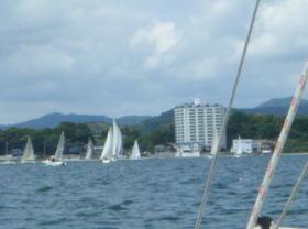 浜名湖でヨットレース