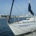 伊良湖港内のマリーナ桟橋にて