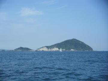 神島の東側の風景