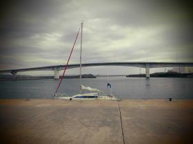 形原漁港のランドマークとしての大橋。